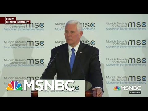 Mike Pence Met With Silence Angela Merkel Hammers President Donald Trump  Morning Joe  MSNBC
