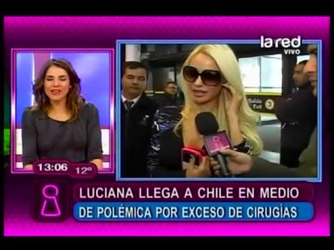 Luciana Salazar llega a Chile en medio de polémicas por cirugías