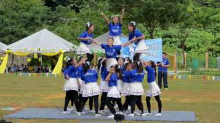 SMK SRI SENTOSA Hari Sukan 2016 Cheerleading Blue House
