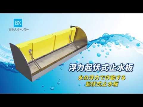 浮力起伏式止水板