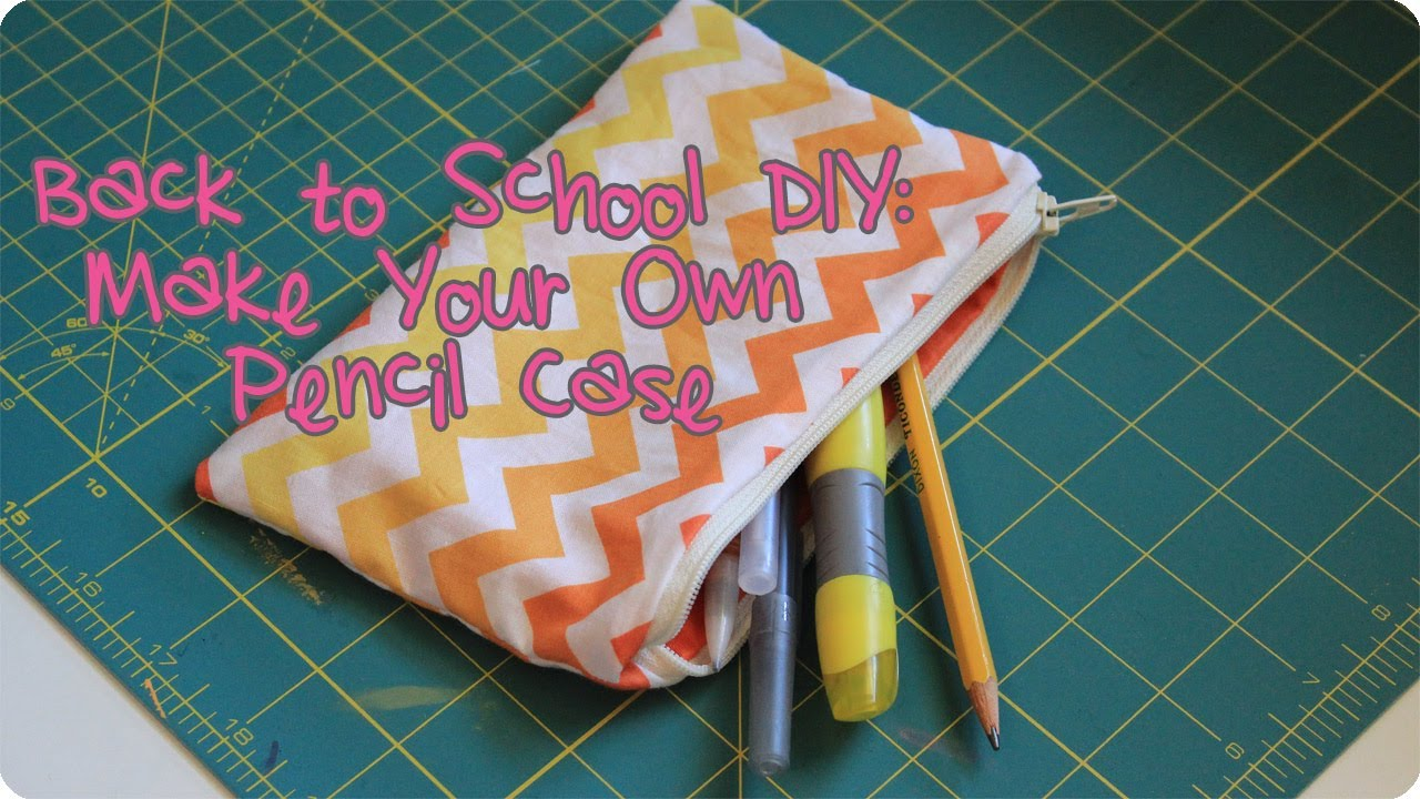 Giveaway Is Closed How To Make A Pencil Case Back To