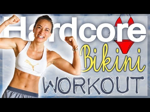 Bikini Workout - Hardcore HIIT - Fatburn Home Training - Einfach abnehmen