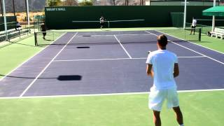 Tomas Berdych Practice 2012 BNP Paribas Open in HD