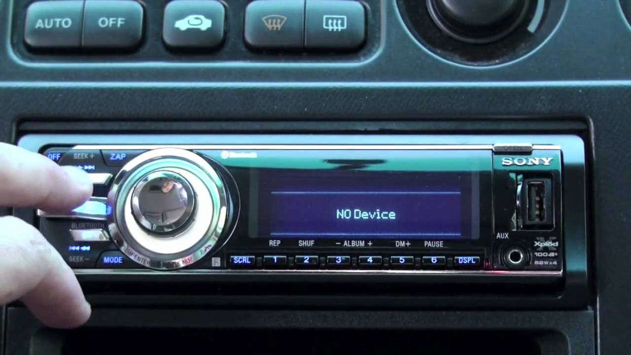 Sony car stereo bluetooth pairing 13