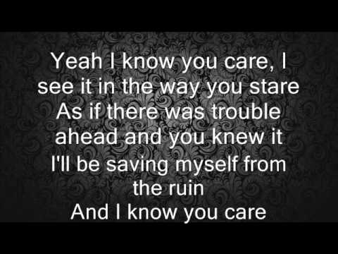 Ellie Goulding - I know you care with Lyrics