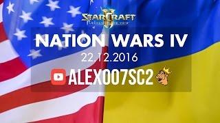Nation Wars Ro16 - США vs Украина - StarCraft 2 LotV