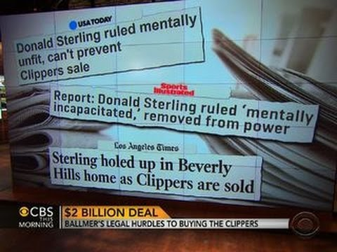 Sterling's mental state may have impact on LA Clippers sale