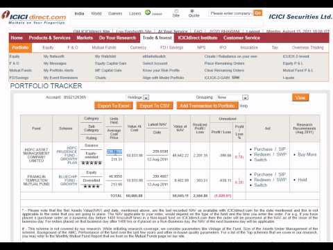 How To Check Portfolio In Icici Direct Account - Stock Holding Portfolio Tracker video