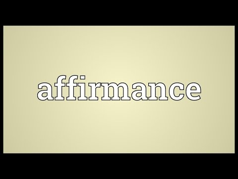 Header of affirmance