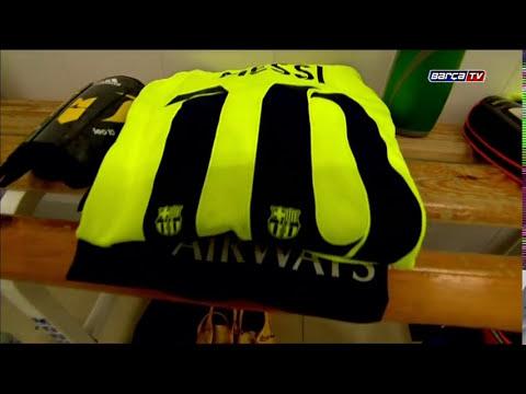 El vestuario visitante del Almería-Barça