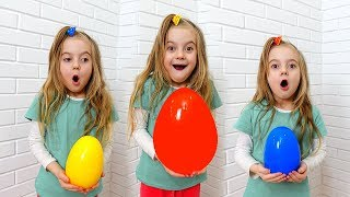Ulya and HUGE EGGS surprise toys Compilation
