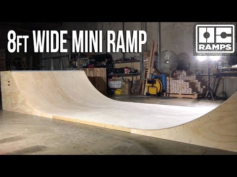 8ft wide Mini Ramp Halfpipe Skateboarding by OC Ramps