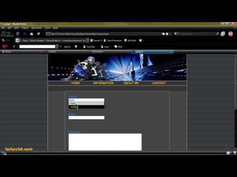 Contact Page / Form, PHP Script Dreamweaver Tutorial