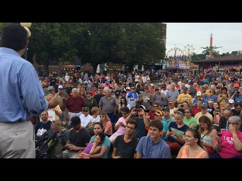 Sen. Ted Cruz at the Iowa State Fair Soapbox
