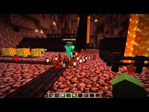 Minecraft Clay Soldiers Civilization Project Nether Fortress and Cyan City