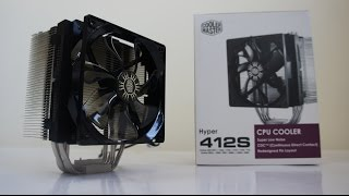 COOLER MASTER Hyper 412S review, test, overclock, build, i5 6600K