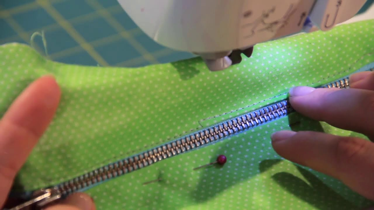 How to use a zipper foot youtube