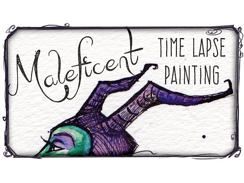 Accidentally painted Maleficent - WHAT WILL I DRAW #12