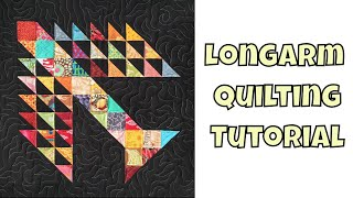 How to Quilt Tree of Life Quilt Block on a Longarm Frame