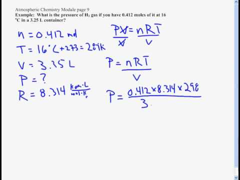 Pv Nrt The Ideal Gas Law Youtube