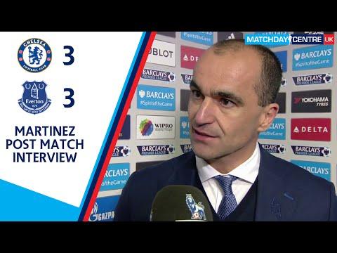 Chelsea 3-3 Everton : Roberto Martinez Interview