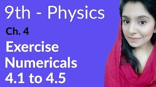 Physics Chapter no 4 Numerical 4.1 to 4.5 - Physics Chapter 4 Turning Effect of Forces - 9th Class