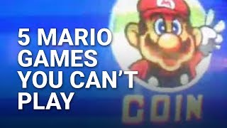 5 Mario Games You Can't Play Anymore