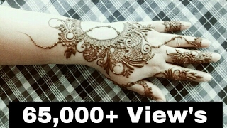 Henna Design Unique Style With Gulf Style Kharasach Latest