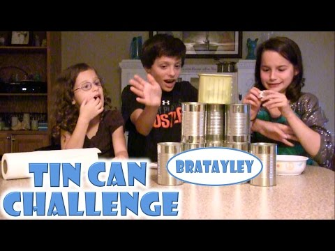 Bratayley Takes the Tin Can Challenge! (WK 196.6)