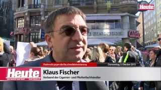 Flashmob gegen die Raucherdiskriminierung (3.10.2013), Wien, Stephansplatz