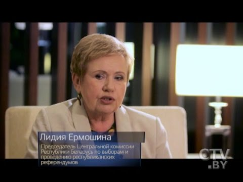 Глава ЦИК Беларуси Лидия Ермошина в программе «Простые вопросы» с Егором Хрусталёвым