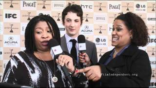 Miles Teller interview at the 2011 Independent Spirit Awards Live Arrivals Show