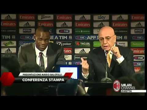 MARIO BALOTELLI: Presentazione - Galliani VS Giornalista TG1