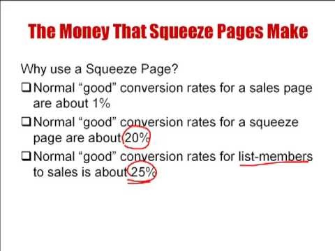 What is a Squeeze Page? Squeeze page tutorials.