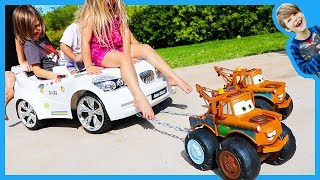 Tow Trucks for Children - Tow Mater Towing Ride On Car