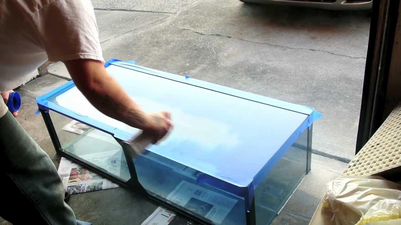 How to spray paint your fish tank youtube for Fish tank paint