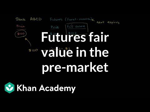 Futures fair value in the pre-market | Finance & Capital Markets | Khan Academy