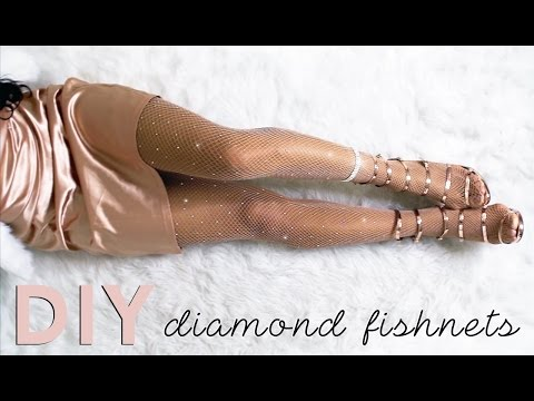 DIY KYLIE JENNER DIAMOND FISHNETS + HOW TO STYLE