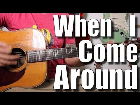When I Come Around - Green Day - Easy Acoustic Version Guitar Tutorial