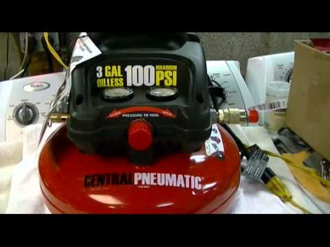 Harbor Freight - Central Pneumatic 3 Gallon Oilless Pancake Style Air Compressor Review