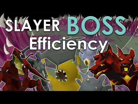 Which Slayer Bosses Are Efficient To Kill? [Old School Runescape Comparison]
