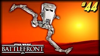 Star Wars Battlefront - Funny Moments #44 (Crazy AT-ST, Unfortunate Moments!)