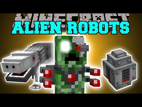 Minecraft: ALIEN ROBOT DINOSAUR CREEPERS MOD (LASER CREEPERS, RIDEABLE DINOS, & MORE!) Mod Showcase