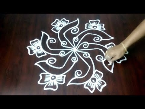 Creative Kolam Design  || Chukkala Muggulu 5 x 3 ||  Latest Creative Rangoli Easy || Fashion World