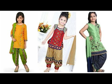 Kids Punjabi suit designs ideas/little girls Indian outfits/Salwar suit designs for girls