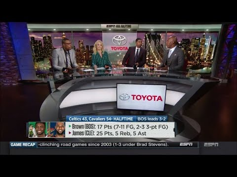 Cavaliers vs Celtics Game 6 Halftime Report | NBA Countdown | May 25, 2018