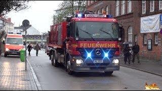 [Brennt Lok im Hauptbahnhof] Großeinsatz BF + FF Lübeck [Anfahrten und Einsatzstelle]
