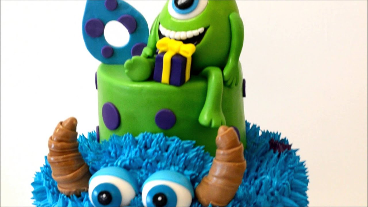Monster INC Cake for 6 year old birthday - YouTube