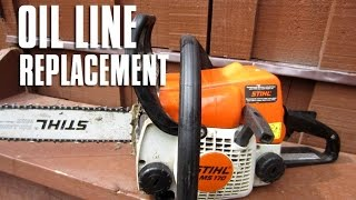 STIHL Chainsaw MS180/170 - 017/018 Oil Line Replacement