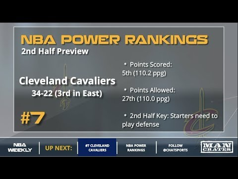 Post All-Star Break NBA Power Rankings - Cleveland Cavaliers, Golden State Warriors, Boston Celtics